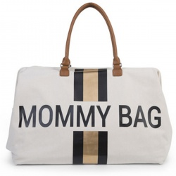 Ideje za poklone - Za mame - Mommy Bag - White Gold / Black Stripes