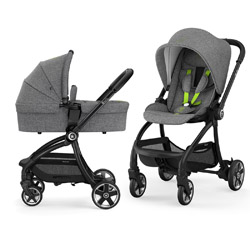 Dječja kolica - Dječja kolica 2U1 - Kiddy Evostar Light - Melange Grey, Super Green
