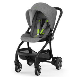 AKCIJA - Kiddy Evostar Light - Melange Grey, Super Green (bez košare)