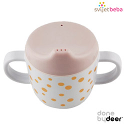 Hranjenje | Bočice Sippy Cups | Done by Deer - Happy Dots Gold/Powder
