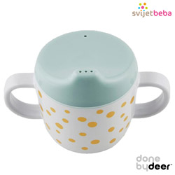Hranjenje | Bočice Sippy Cups | Done by Deer - Happy Dots Gold/Blue