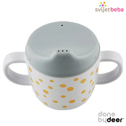 Hranjenje | Bočice Sippy Cups | Done by Deer - Happy Dots Gold/Grey