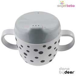 Hranjenje | Bočice Sippy Cups | Done by Deer - Happy Dots Grey