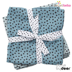 Tekstilni proizvodi - Done by Deer - Tetra pelene - Done by Deer - Happy Dots Blue, 2kom, 70x70cm