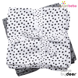 Done by Deer - Done by Deer - Happy Dots Grey, 2kom, 70x70cm