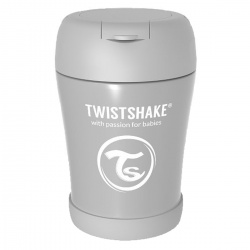 Hranjenje - Twistshake Termo posuda 350ml - Grey