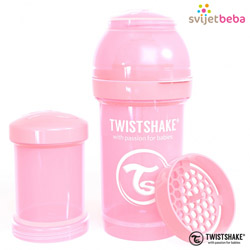 Hranjenje - Twistshake Anti-Colic 180ml - Pastel Pink