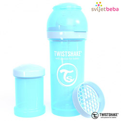 Hranjenje - Twistshake Anti-Colic 260ml - Pastel Blue