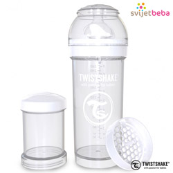Hranjenje - Twistshake Anti-Colic 260ml - White