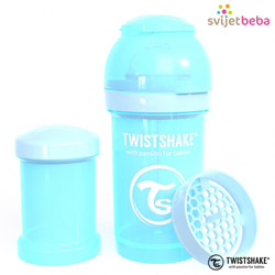 Hranjenje - Twistshake Anti-Colic 180ml - Pastel Blue