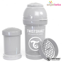 Hranjenje - Twistshake Anti-Colic 180ml - Pastel Grey