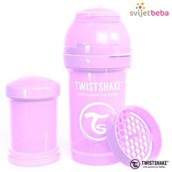 Hranjenje - Twistshake Anti-Colic 180ml - Pastel Purple