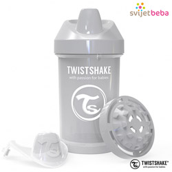 Hranjenje | Bočice Sippy Cups | Twistshake Crawler Cup 300ml, 8+mj - Pastel Grey