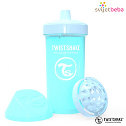 Hranjenje | Bočice Sippy Cups | Twistshake Kid Cup 360ml, 12+mj - Pastel Blue