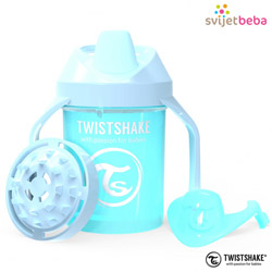 Hranjenje | Bočice Sippy Cups | Twistshake Mini Cup 230ml, 4+mj - Pastel Blue