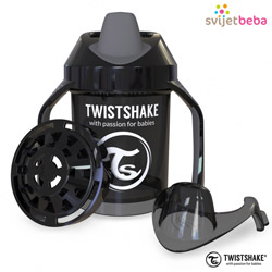 Hranjenje | Bočice Sippy Cups | Twistshake Mini Cup 230ml, 4+mj - Black