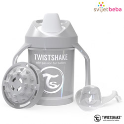 Hranjenje | Bočice Sippy Cups | Twistshake Mini Cup 230ml, 4+mj - Pastel Grey
