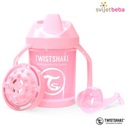 Hranjenje | Bočice Sippy Cups | Twistshake Mini Cup 230ml, 4+mj - Pastel Pink