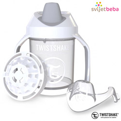 Hranjenje | Bočice Sippy Cups | Twistshake Mini Cup 230ml, 4+mj - White