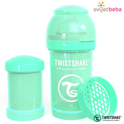 Hranjenje - Twistshake Anti-Colic 180ml - Pastel Green