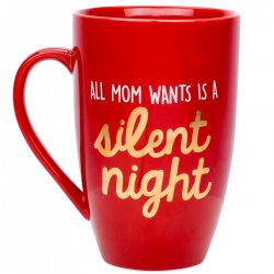 Ideje za poklone | Babyshower | Pearhead šalica - All mom wants is a silent night