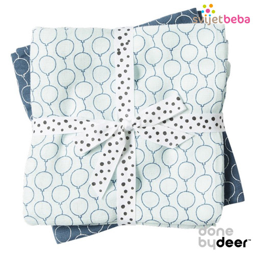 Done by Deer | Tetra pelene | Done by Deer - Balloon Blue, 2kom, 70x70cm