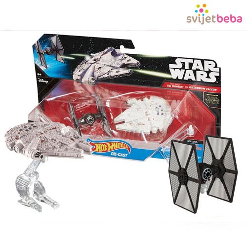 IGRAČKE | Star Wars figurice | Star Wars figurice - Tie Fighter protiv Millennium Falcon